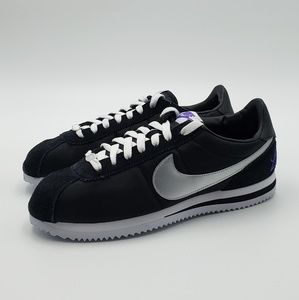 Nike Cortez Basic Shoes Los Angeles Black Silver W